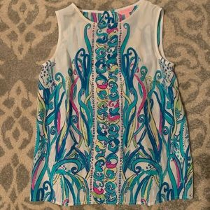 Never worn Lilly Pulitzer silk lona shell top